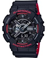 G-Shock GA-110HR Black/Red Series Black - Black / One Size