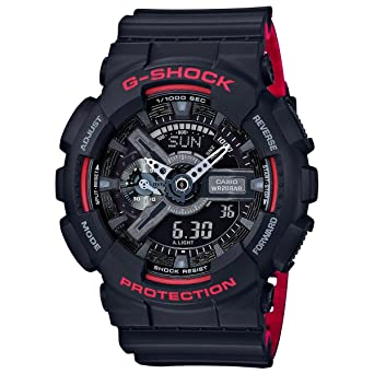 2a82fce99e25 Image Unavailable. Image not available for. Color  Casio G-Shock GA-110HR  Black Red ...