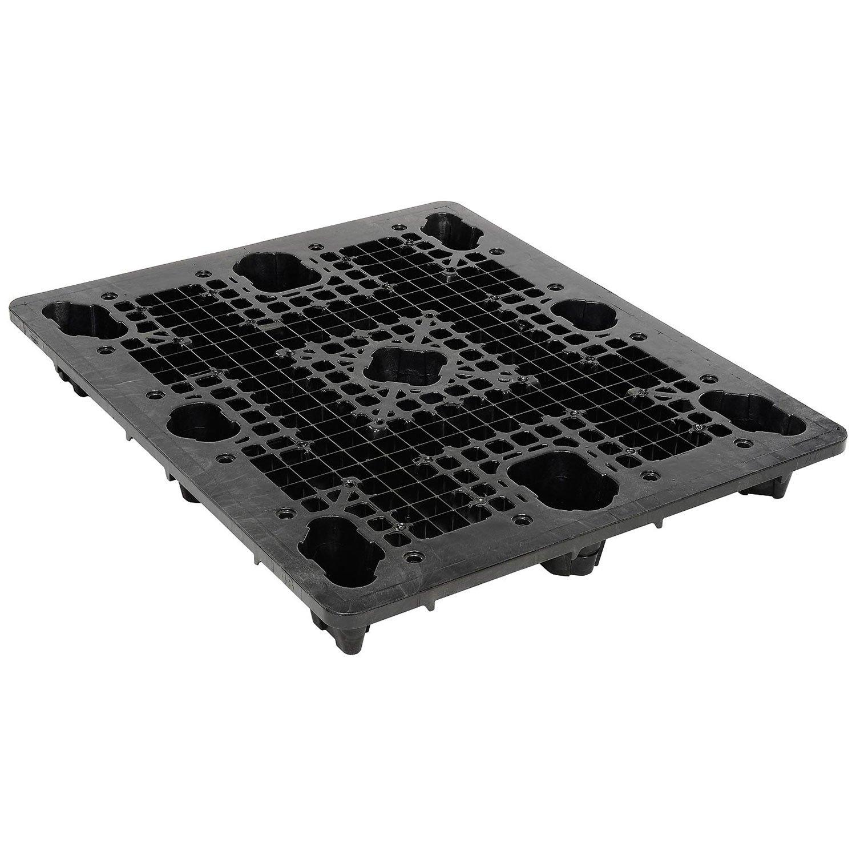 ORBIS Nestable Shipping Plastic Pallet, 48'' Lx40 W, 2300 Lb Fork Capacity - Lot of 5