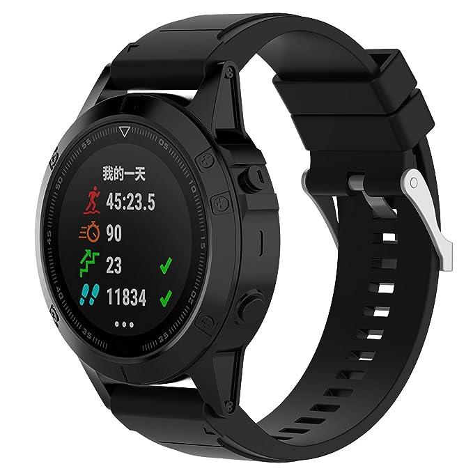 2 opinioni per XIHAMA Armband für Garmin Fenix 5, weiches Silikon, Quickfit, 22 mm,