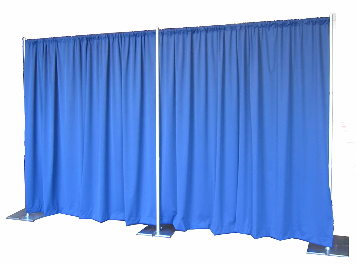 Bl blue stage curtains background - Amazon Com Pipe And Drape Backdrop 8ft X 20ft No Drapes Photo Studio Backgrounds Camera Photo