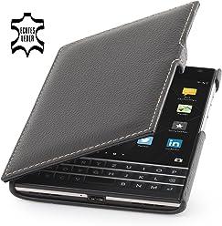 StilGut Book Type, housse en cuir pour BlackBerry Passport