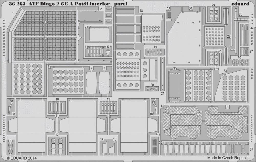 Eduard Photoetch 1:35 - ATF Dingo 2 GE A PatSi Interior (Revell) - (EDP36263)