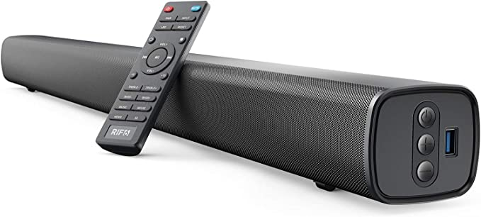 Amazon.com: RIF6 Sound Bar - 35 Inch Home Theater TV Soundbar with LED Display, Dual Built-in Subwoofers and 4 Equalizer Settings - Connects to Bluetooth, HDMI, AUX, RCA and USB: Home Audio & Theater