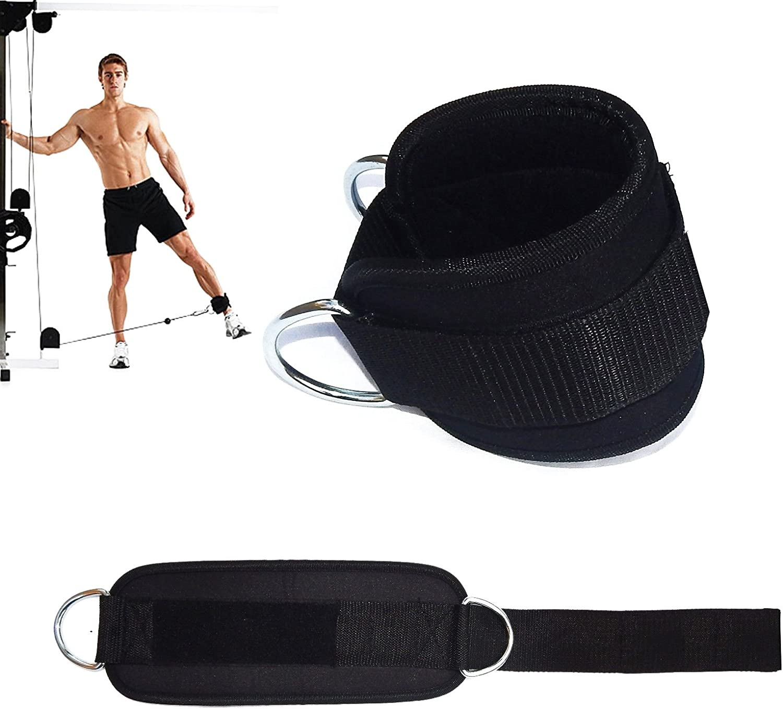 para fijar m/áquina de cable correa para mu/ñecas y piernas de peso Grofitness Correas ajustables para los tobillos con doble anilla en D 1 par