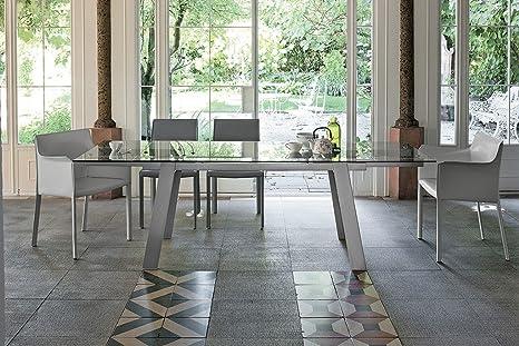 TARGET POINT Tavolo Giove 160 Metallo Argento: Amazon.it: Casa e cucina