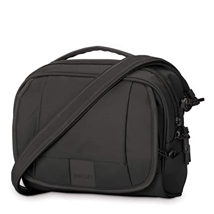 13b107fd3 PacSafe Metrosafe LS140 anti-theft compact shoulder bag Messenger Bag, 24  cm, 5 liters, Black (Black 100): Amazon.co.uk: Luggage