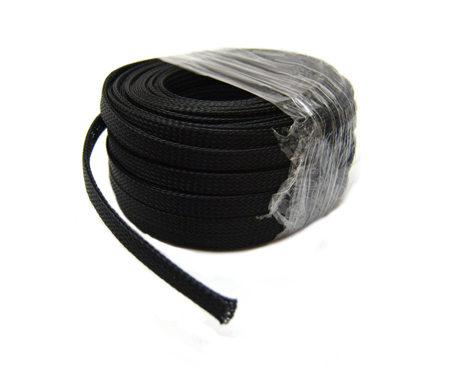 """Amazon.com: Braided Expandable Loom 1/4"""" 3/8"""" 3/4"""" 100 Ft Black Wire Harness  Cover Sheathing: Everything Else"""