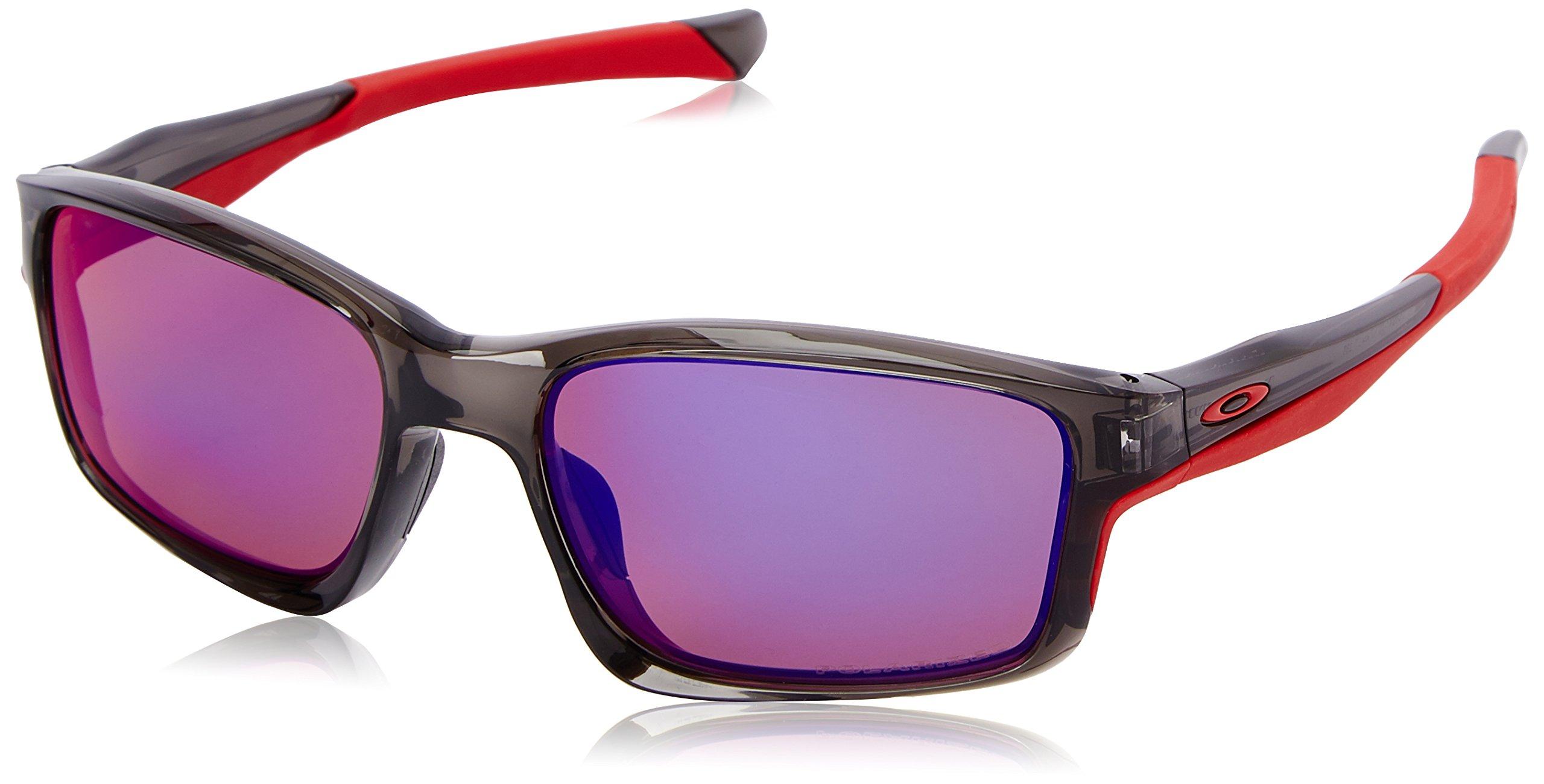 Oakley Mens Chailink OO9247-10 Polarized Ractangular Eyeglasses, Grey Smoke, 57 mm