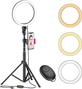 LED Ring Light 10 inch Makeup Video Photo With Floor Tripod Phone Holder Youtube