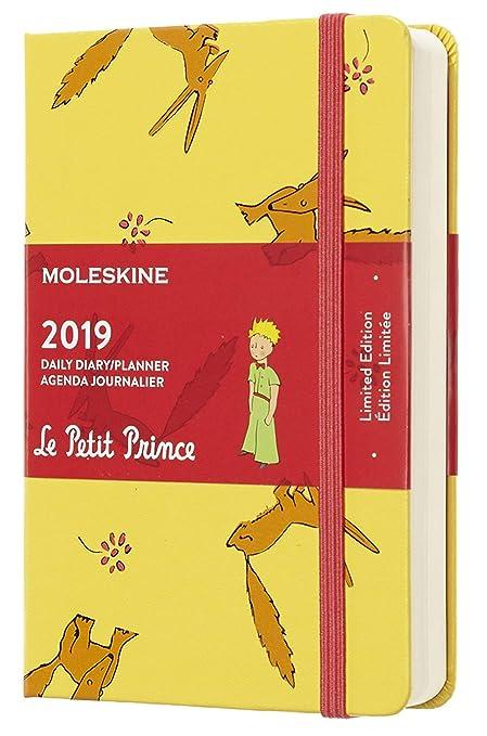 Moleskine DPP12DC2Y19 - Diario 12m de edición limitada Petit Prince de bolsillo, color amarillo girasol