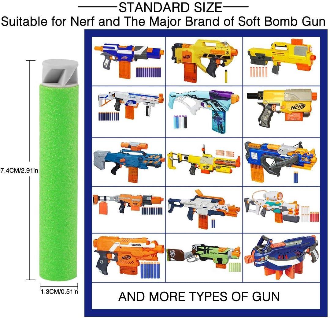 Fl/échettes en Mousse pour Nerf Pack de munitions pour Pistolet Jouet Universel pour Enfants pour N-Strike Elite Series Blasters Balle de Recharge Souple de 300 pi/èces 7,2 cm