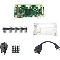 DIGISHUO Complete Starter 6 in 1 Kit Raspberry Pi Zero Module 1GHz 512M&Transparent Case&Mini HDMI Connector&Micro USB…