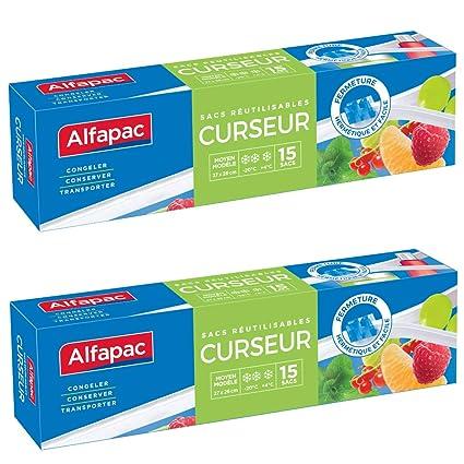 Alfapac - Bolsas para congelador, biodegradable, pack de 2 ...