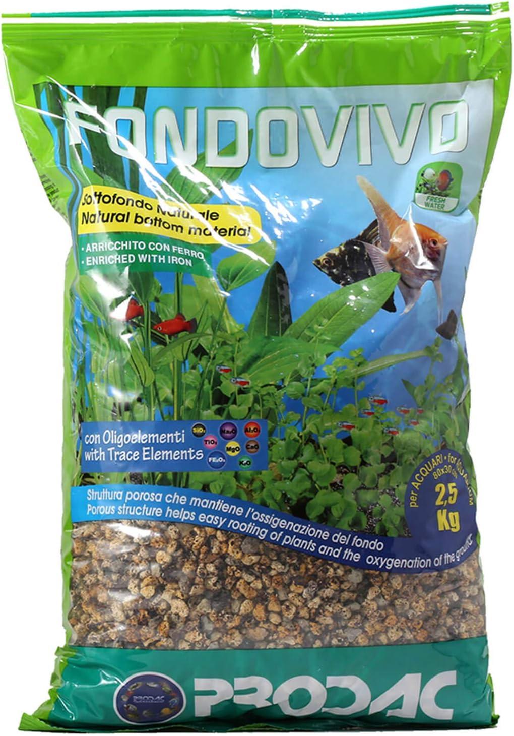 Prodac FondoVivo - Sustrato natural para acuario, 2,5 kg