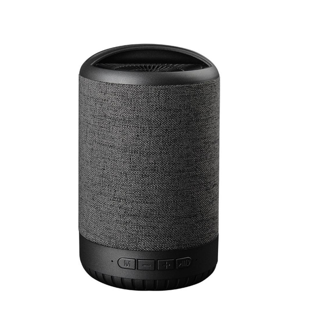 Newest Portable Colorful Wireless Speaker 3D HiFi Bass Retro Loudpeaker for Laptop, Computer, Home, Office, Party (Black)