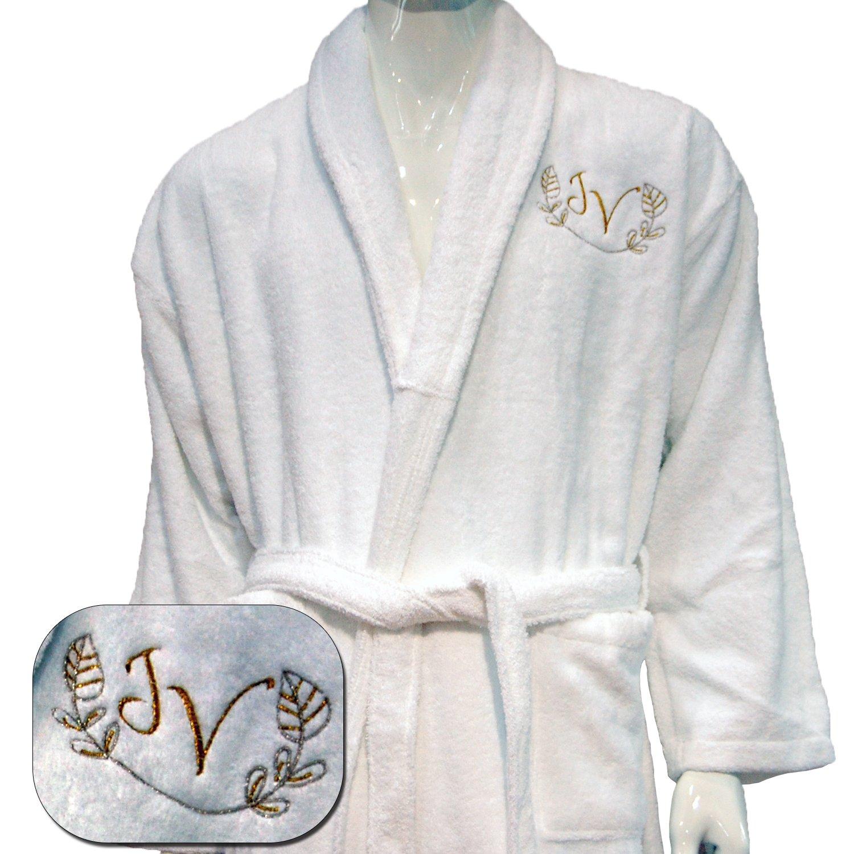 5/stelle di alta qualit/à hotel Edition personalizzata bianco set accappatoio White 100/% Cotone small teli da bagno/ /ref Lino