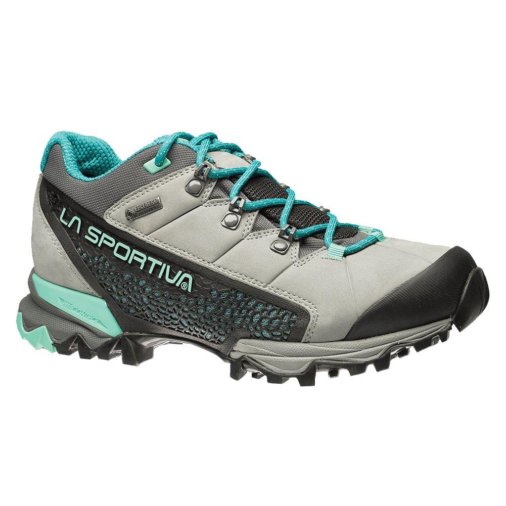 La Sportiva Genesis Low GTX Women's Hiking Shoe Boot, Grey/Mint, 37