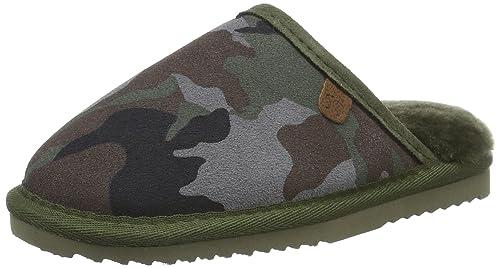 Warmbat Classic Print, Zapatillas de Estar por Casa Nios, Multicolor (Camo Dark Navy), 30 EU