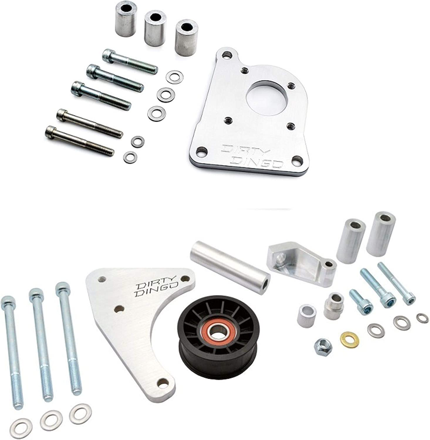 Dirty Dingo LS1 Style Close Fit Power Steering//Low Mount Alt Billet Truck Spacing Combo Kit