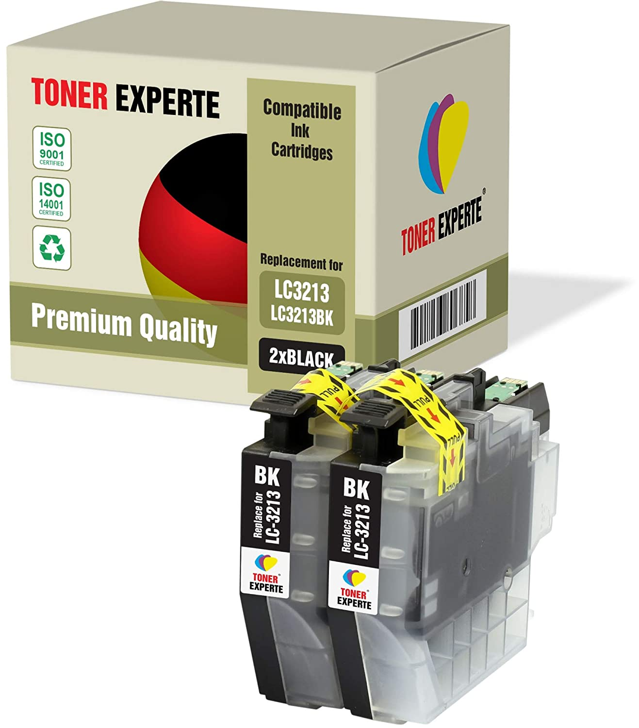 Amazon.com: TONER EXPERTE Lc3213 Lc3213Bk 2 Compatible Ink ...