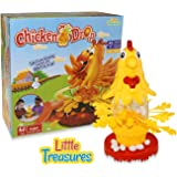 Chicken Drop Education Game, Plunk the Feathers from the Chicken without Releasing the Eggs. A Fun Family Game for Boys and Girls.