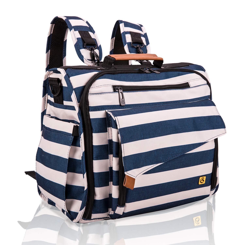 ALLCAMP Baby Wickelrucksack Wickeltasche mit Wickelunterlage Multifunktionale Unisex Babytasche gro/ße Kapazit/ät f/ür Unterwegs