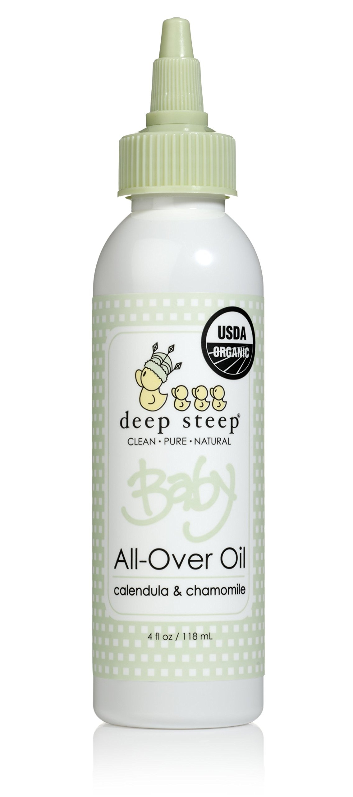 Deep Steep Baby All-Over Oil, 4 Ounces (Calendula & Chamomile)