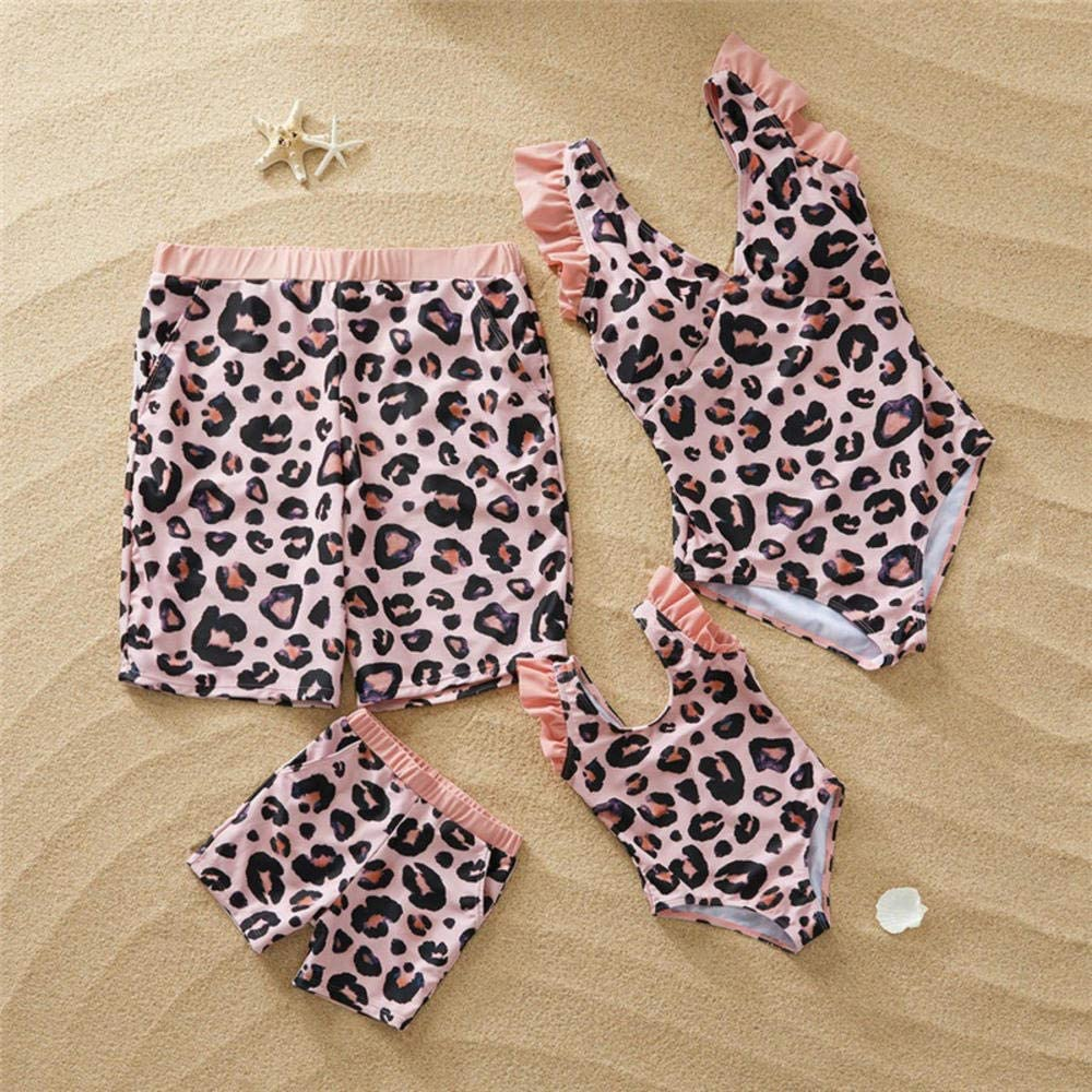 nobrand Costumi da Bagno Coordinati per la Famiglia Stampa Bikini da Bagno da Mamma e Figlia