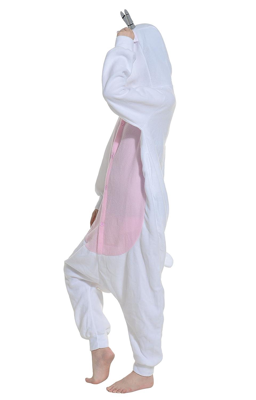 Fandecie Unisex Adult Pajamas Kigurumi Costume Anime Animal Cosplay Onesies Halloween Sleepwear Fancy Dress Goat Suitable for Height 160-175cm
