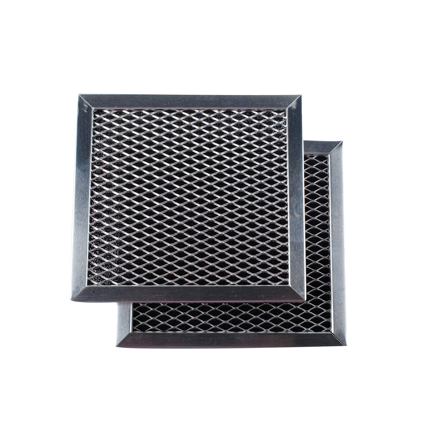 Podoy 8206230A Microwave Range Hood Charcoal Filters Compatible with Whirlpool Sears AP4299744 PS1871363 (2-Pack)