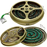 Portable Mosquito Coil Holder - Mosquito Coil & Incense Burner for Outdoor use, Pool Side, Patio, Deck, Camping, Hiking, etc.