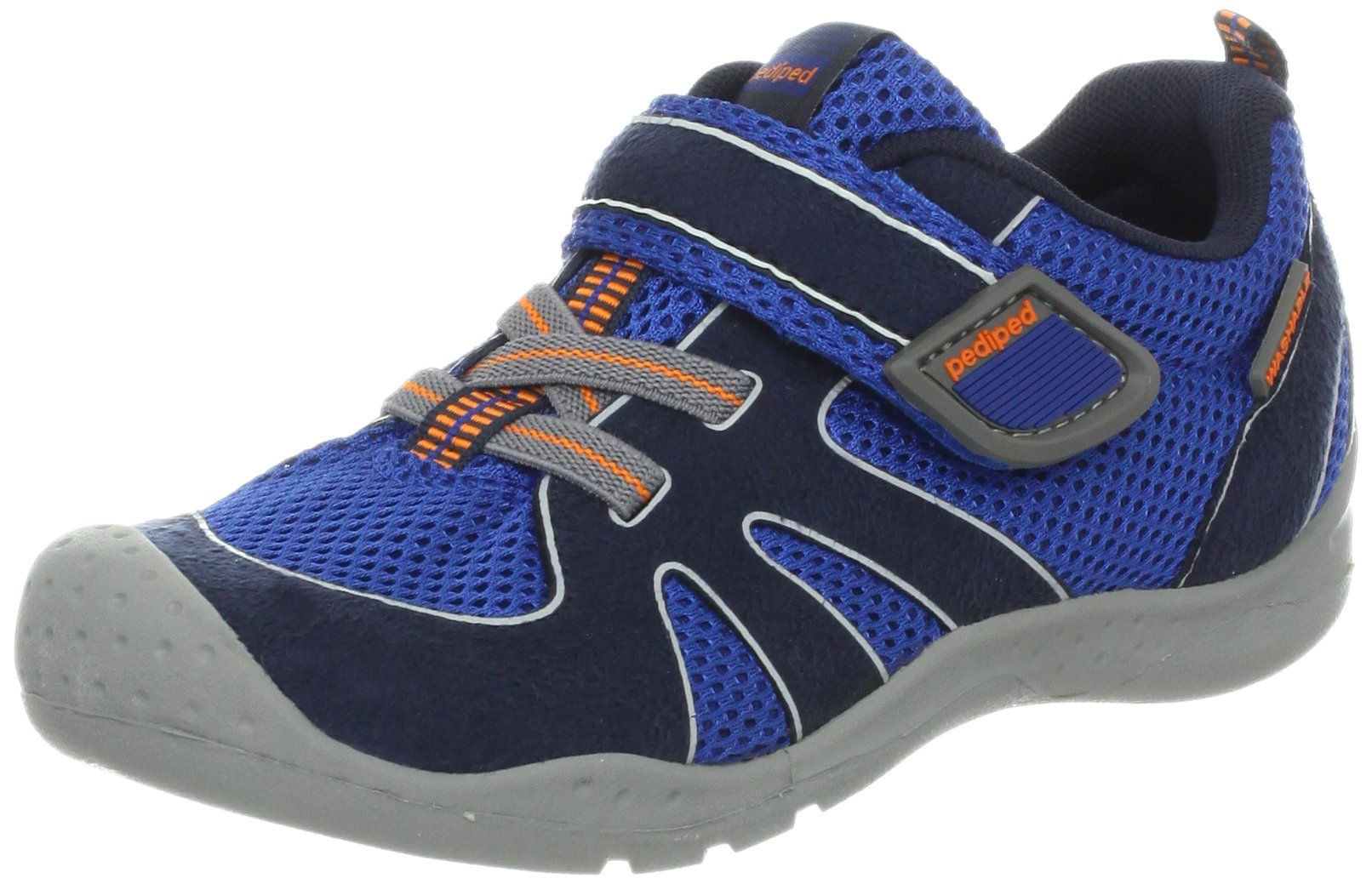 pediped Flex Rio Water Shoe (Toddler/Little Kid),Nittany Blue/Orange,33 EU (1.5-2 E US Little Kid)