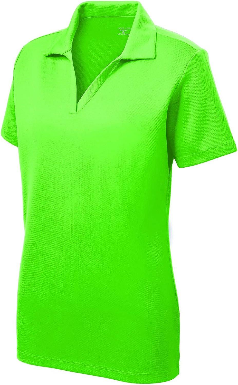 Women's Dri-Equip Short Sleeve Racer Mesh Polo Shirts in Size XS-4XL