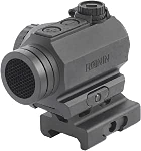 Ronin P10 Red Dot Sight 1X 20mm 2moa Auto-on Low Profile Compact Picatinny Rail with Cowitness Riser , Black