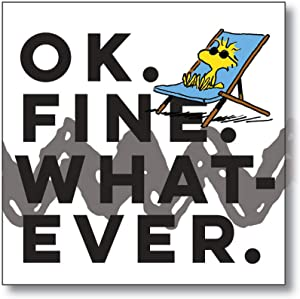 "Department 56 Peanuts ""Ok Fine Whatever Magnet, 3.5 Inches, Multicolor"