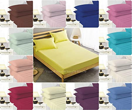 Non Iron 16u0026quot;(40cm) EXTRA DEEP Fitted Bed Sheets ~ PERCALE Quality For