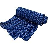 西川 リビング  ナンバーブルー あぜ 織り ストライプ タオル ケット 140×190cm シングル BLUE NO.02 ネイビー 2032-07246