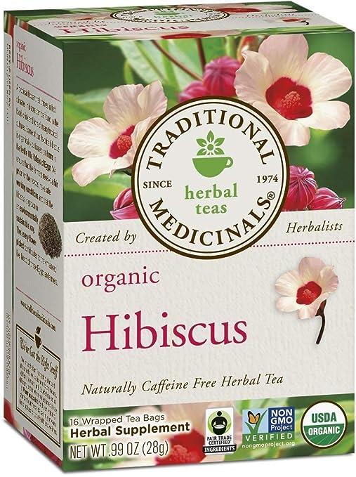 Traditional Medicinals Hibiscus, Herbal Tea, Organic, 16 CT (Pack - 2)