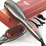 30-IN-1 BeKind Anion Hair Straightener Brush, Built in Upgraded Anion Feature, 15s Fast Heat-up, Multiple Temperature…