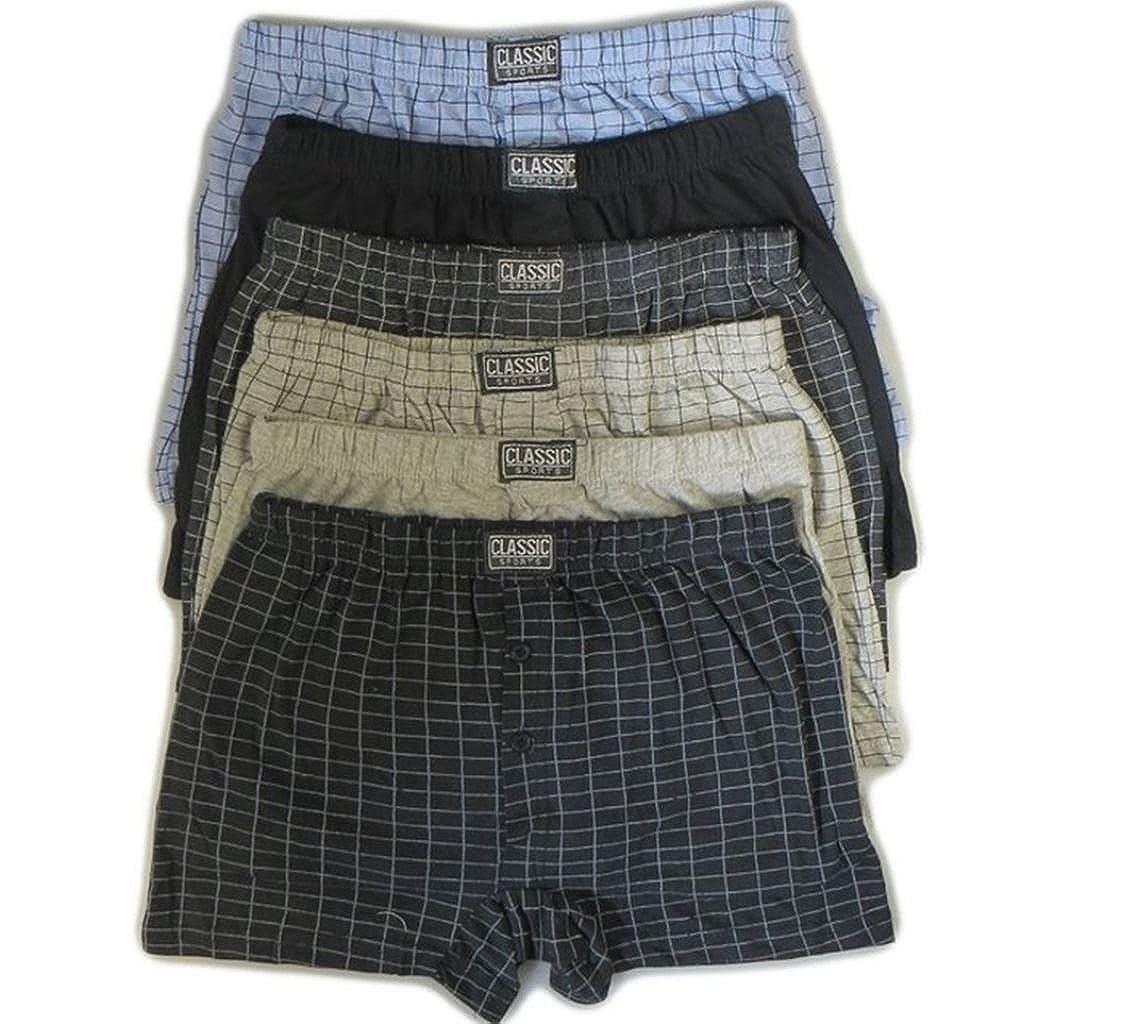 6 coppie Mens Gents classico cotone morbido Rich Boxers Boxer Short S-6XL -Plus Size