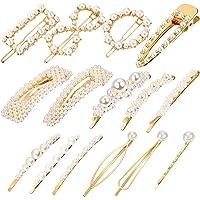 R HORSE 15 Packs Pearl Hair Clip Hair Barrettes Hair Pins Artificial Pearl Hair Accessories Bridal Decoration for Women