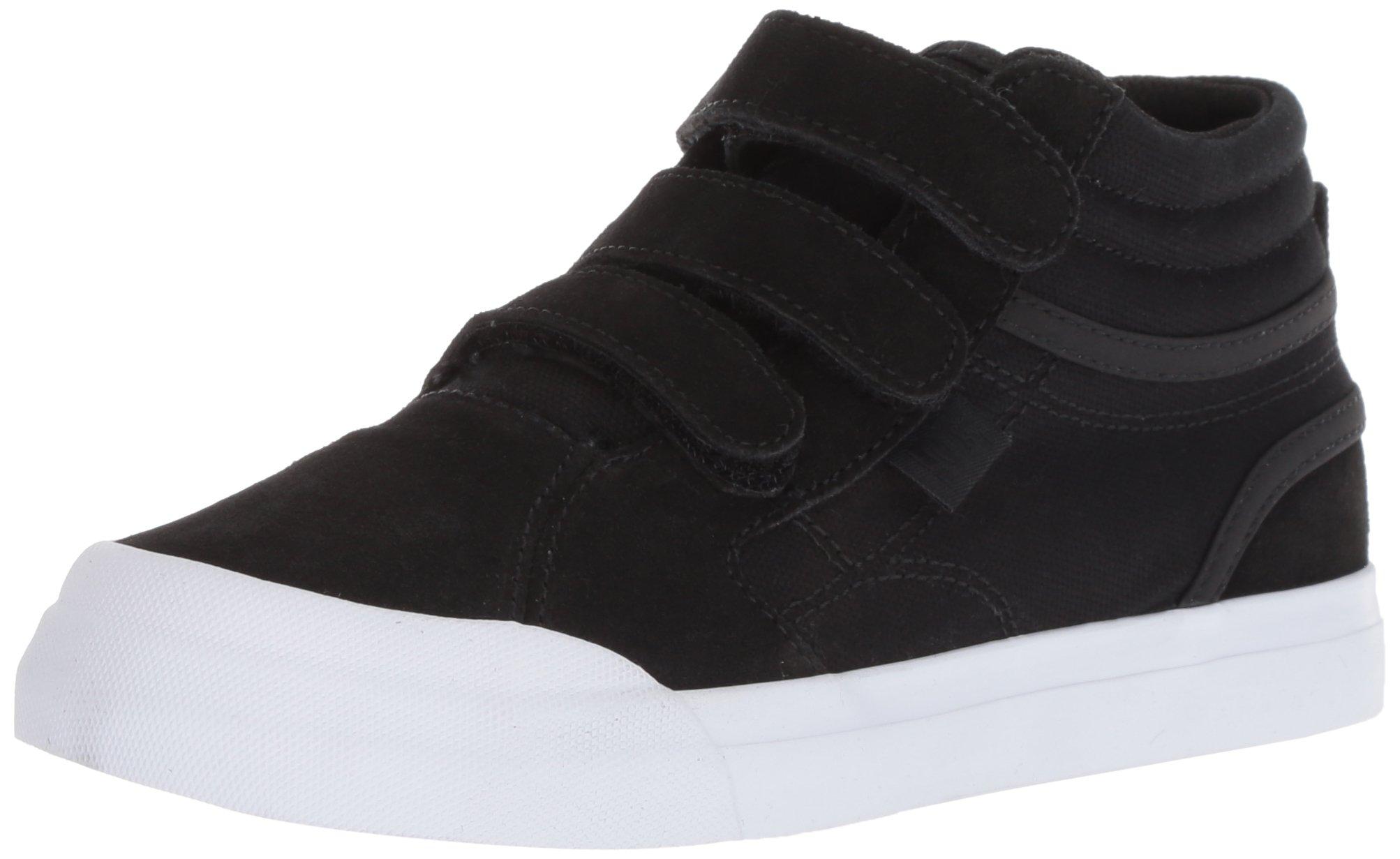 DC Boys' Evan HI V Skate Shoe, Black/White, 6.5 M US Big Kid
