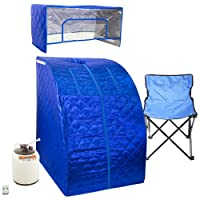 WYZworks Blue Portable Therapeutic Personal Steam Sauna