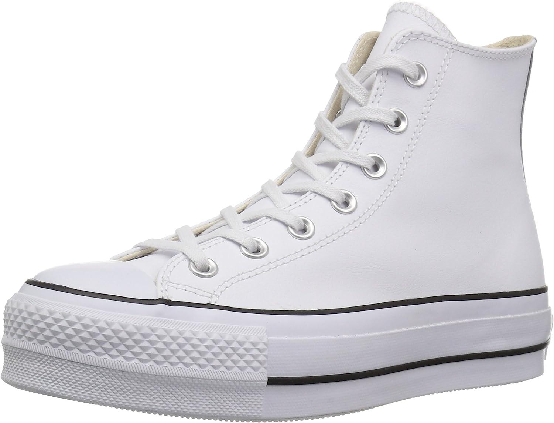 Converse CTAS Lift Clean Hi Black/White, Zapatillas Altas Mujer