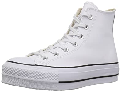 Converse Women s CTAS Lift Clean Hi Black White Top Trainers  Amazon ... 4a2d55aec7