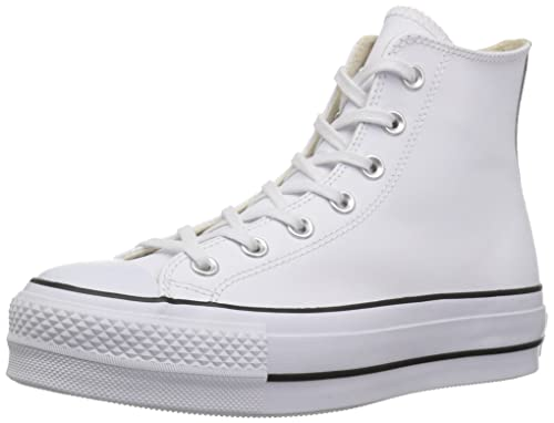 147a3a57c70 Converse Women s Chuck Taylor All Star Lift Clean High Top Sneaker White  Black White