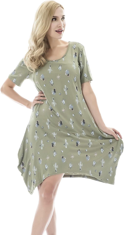 Bearsland Women S Maternity Short Sleeves Summer Breastfeeding Nursing Dresses At Amazon Women S Clothing Store