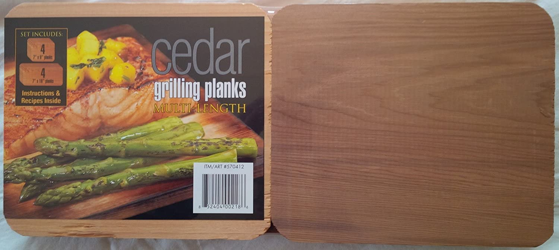 Coastal Cuisine Cedar Grilling//Barbecue Planks Set of 7