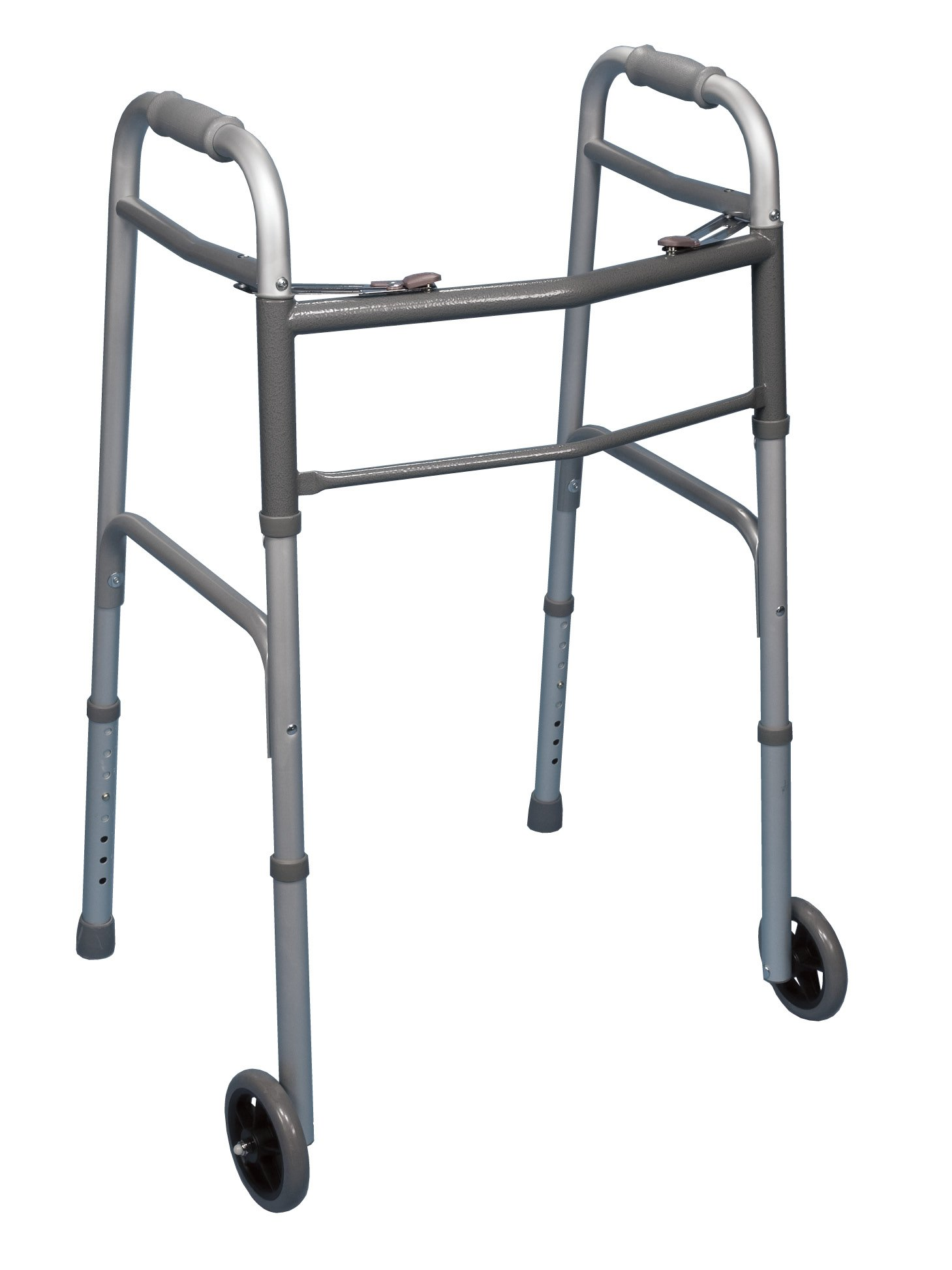 Bilt-Rite Mastex Health 10-99011 Double Button Walker with Wheels